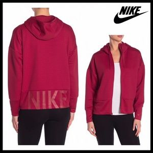 NIKE HOODIE ACTIVE HOODED RED UTILITY JACKET A3C